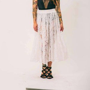Vintage Nancy Denz Lace Maxi Skirt